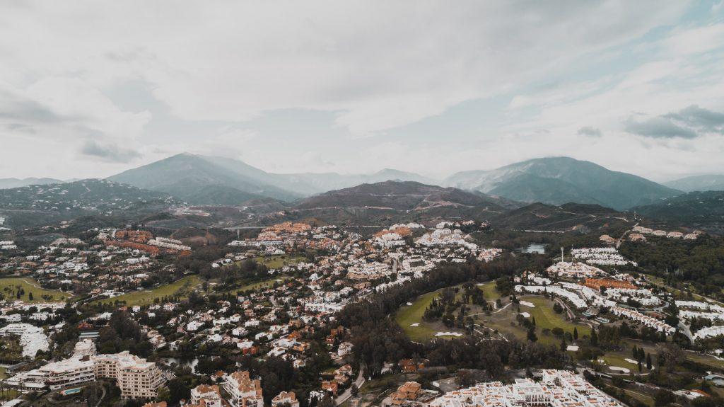 Stad luchtfoto - Villa Valle de Flores